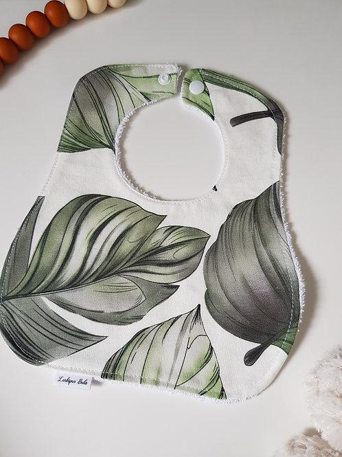 Large Leaf Round Bib