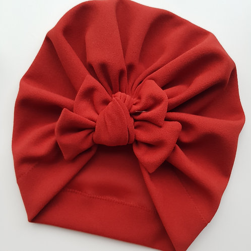 Outback Red Square Bow Turban
