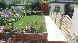 A garden after a Nam Grass installation.