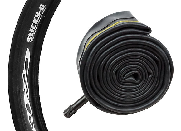 """""""SLICKY-G"""" BICYCLE TIRE TUBE - 26"""" X 2.1"""" / 2.4"""""""