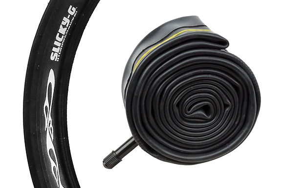 """SLICKY-G"" BICYCLE TIRE TUBE - 26"" X 2.1"" / 2.4"""