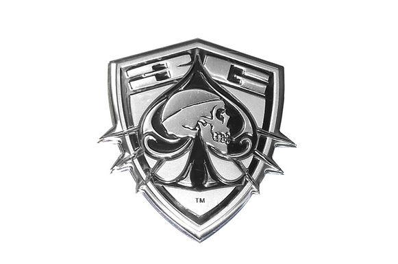 Shield Skull Head Badge