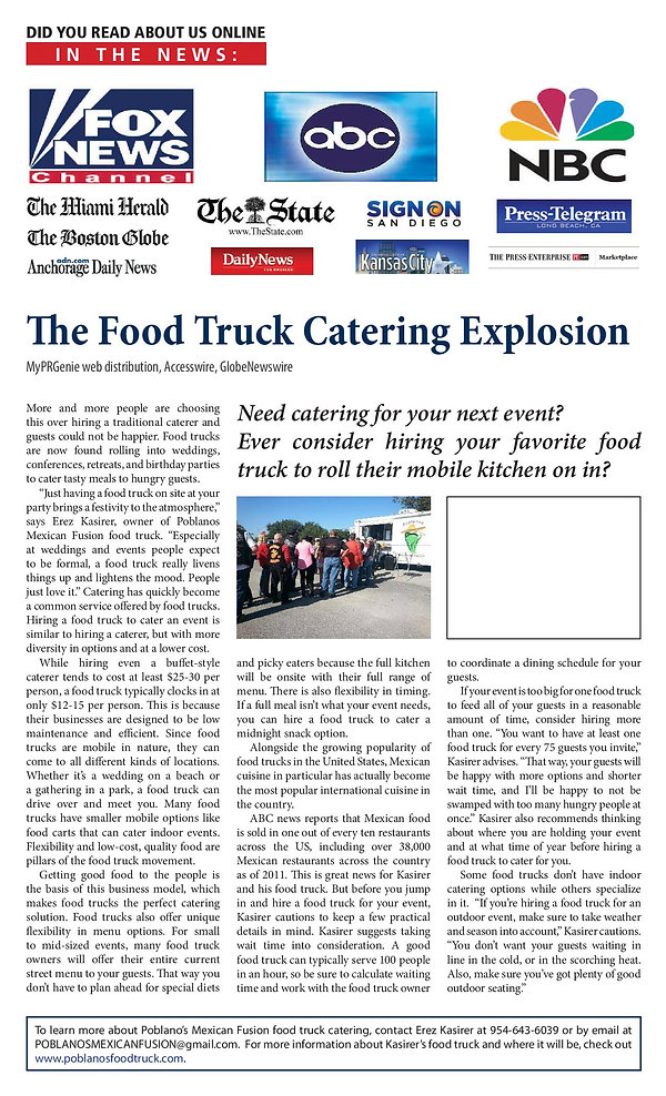 food truck, food truck catering, poblanos mexican fusion