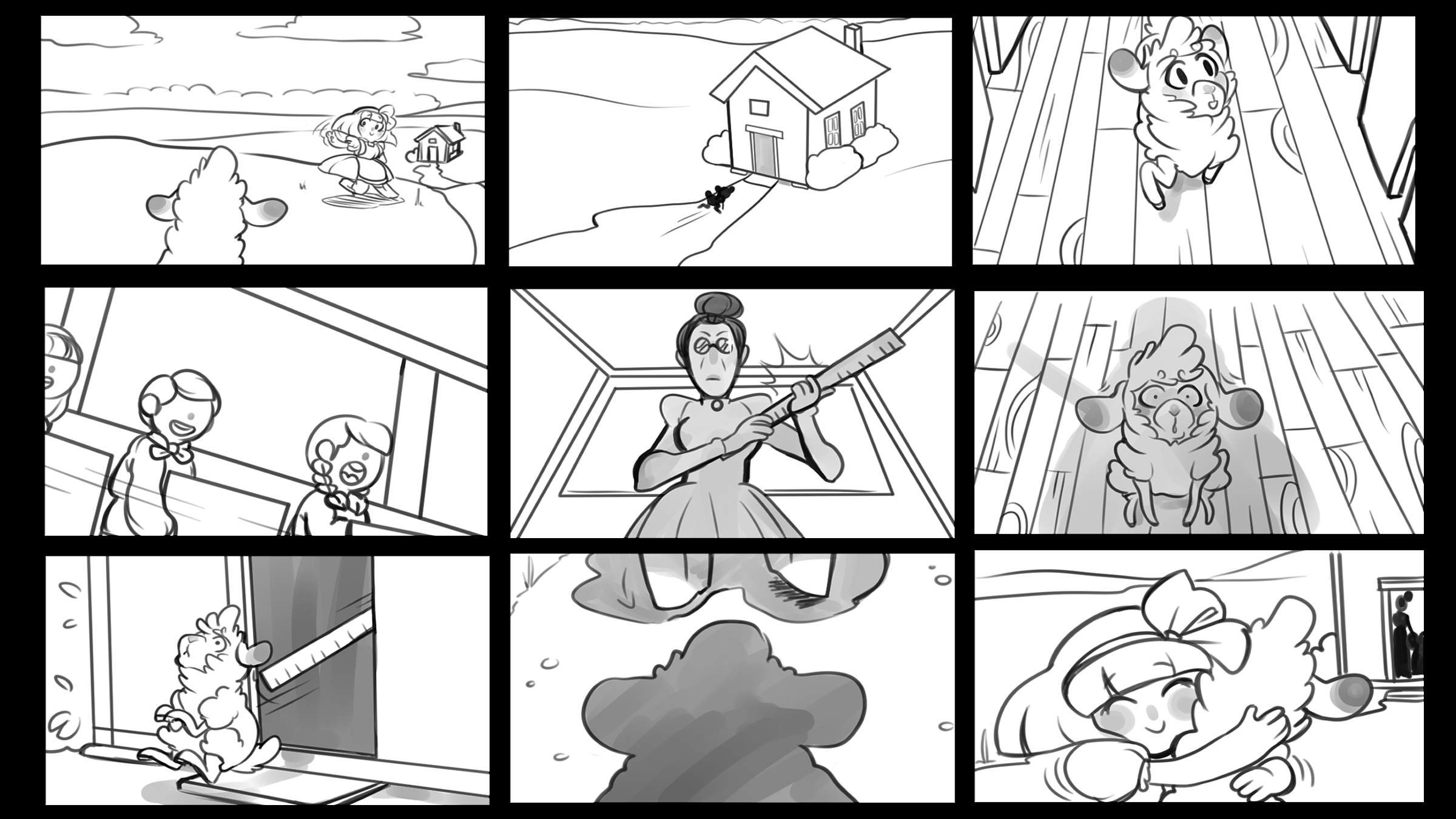 Storyboard: Mary had a little lamb