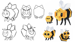 Low poly baby bee