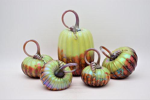 Green Orchard Glass Pumpkins