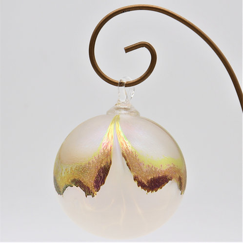 Crystal Lotus Point Glass Ornament