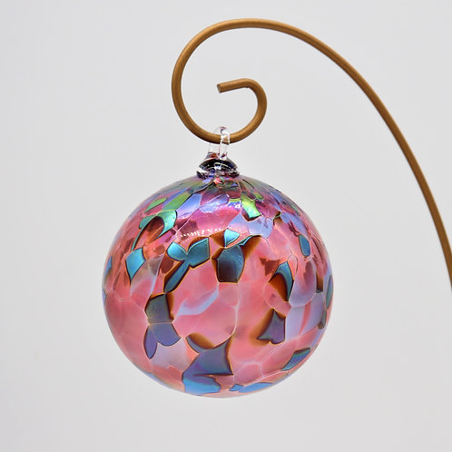 Pink Sky Glass Ornament