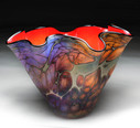 Red Rainbow Fluted Bowl