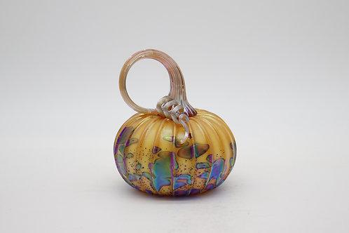 Amber Glass Pumpkins