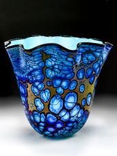 Cobalt Blue Fluted Bowl