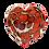 Thumbnail: Rich Umber Jack Pine Glass Heart