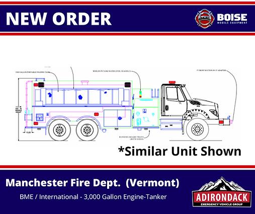 BME - Manchester Fire Dept, VT - 3,000 Gallon Engine-Tanker