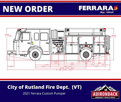 FERRARA - City of Rutland Fire Dept, VT - Custom Pumper