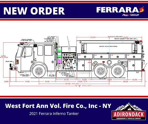 FERRARA - West Fort Ann Vol. Fire Co. - Custom Tanker