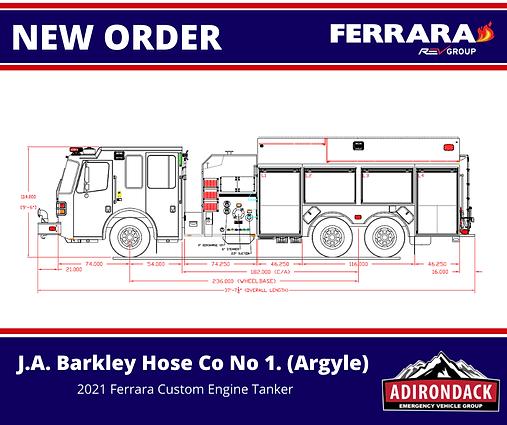 FERRARA - J.A.Barkley Hose Co.No.1 Inc., NY - Custom Engine-Tanker
