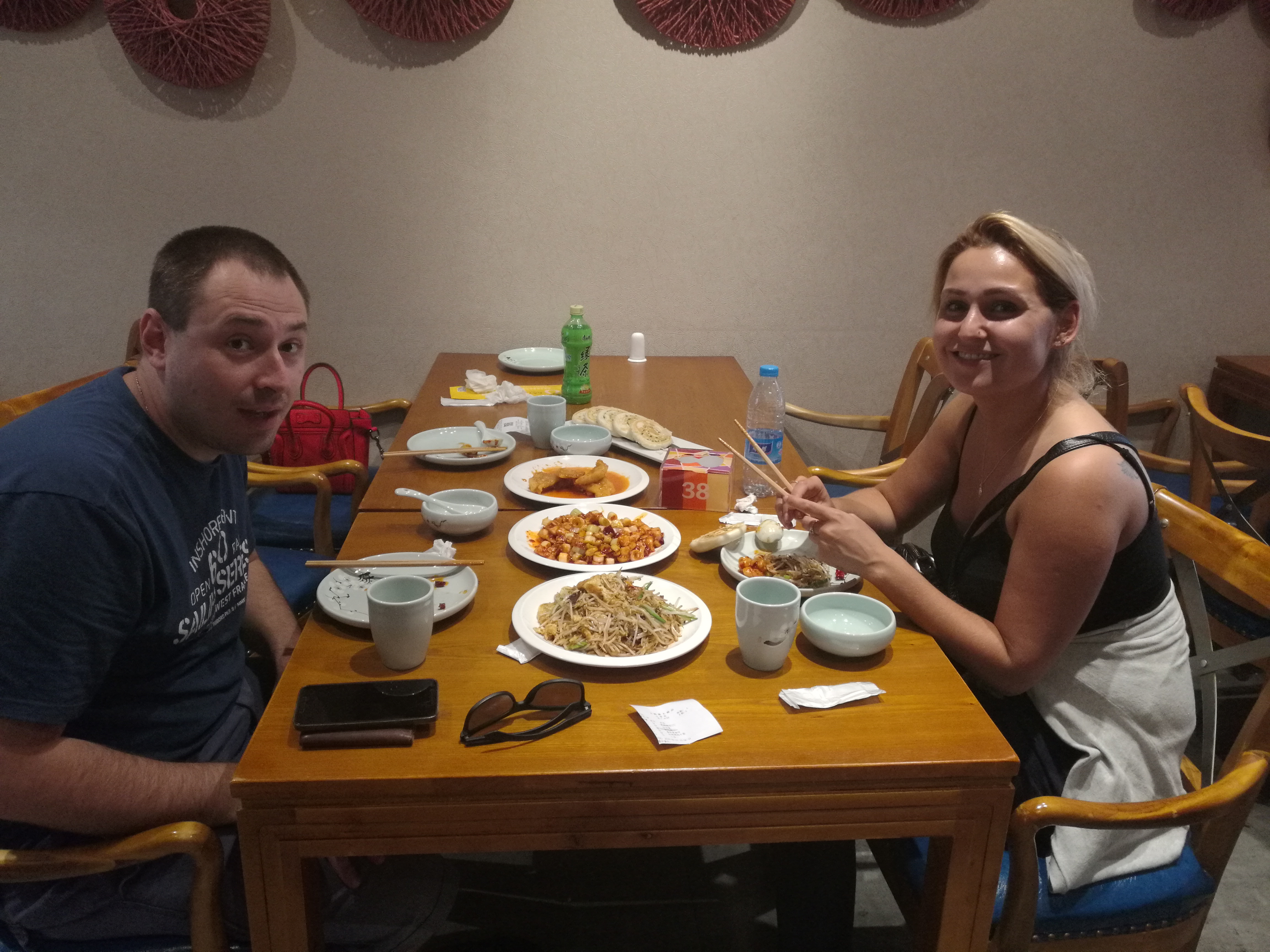 eating Chinese food