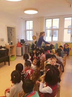 teaching the kids