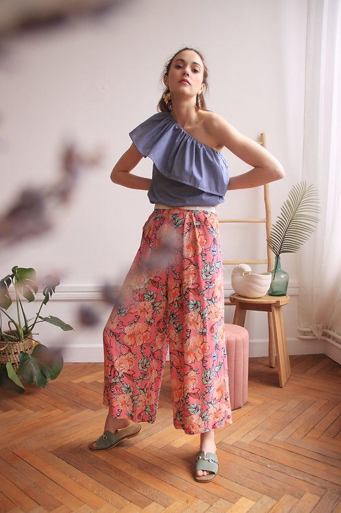 Pantalon Le Radieux Rose Tropic