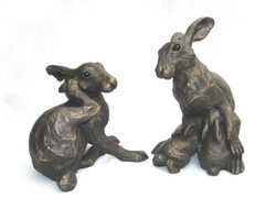 Scratching Hare and Hare & Leverets