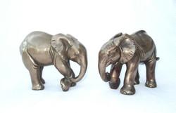 Elephant Calf - smooth bronze resin