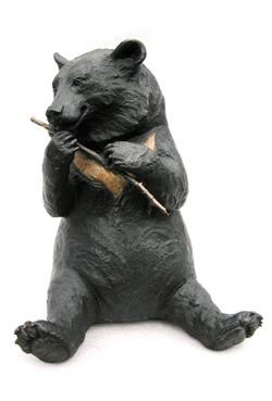 Ginny  with stick - foundry bronze