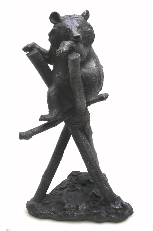 Ki in Climbing Frame -  bronze resin