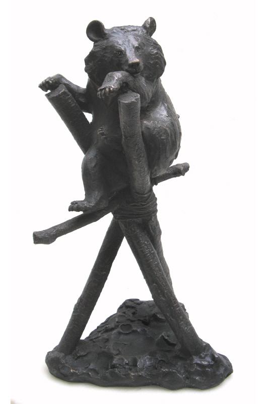 Ki in Climbing Frame -  bronze resin