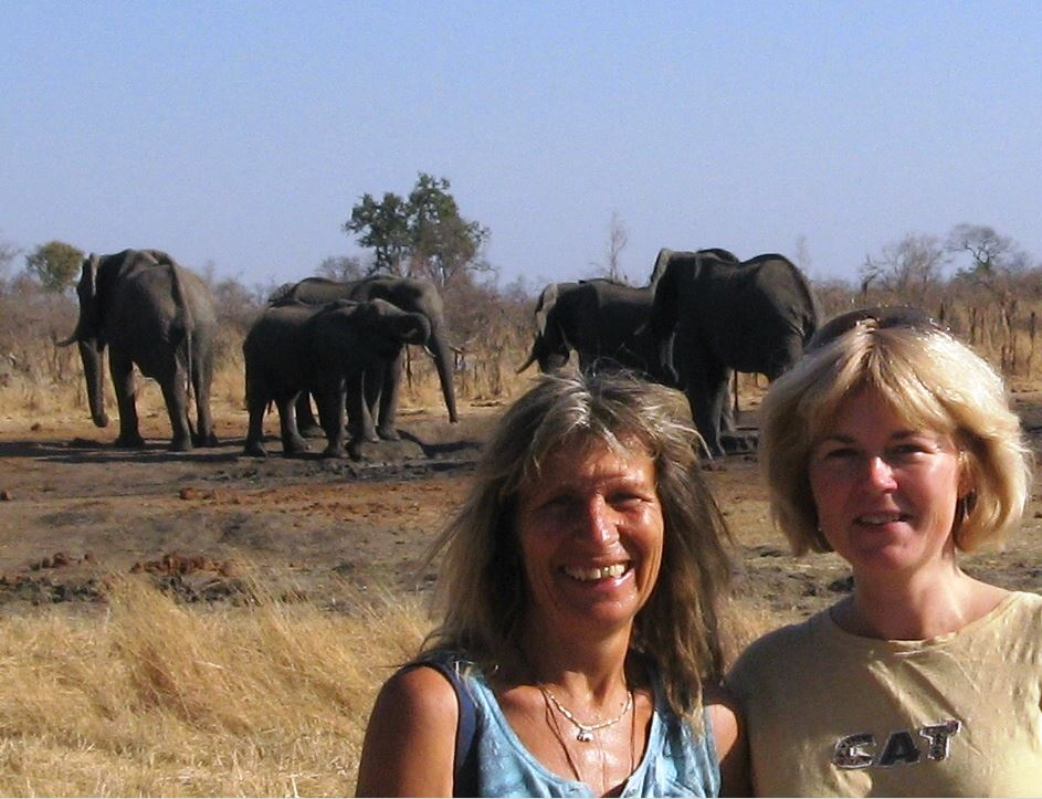 Suzie Marsh with Karen Paolilo in Zimbabwe