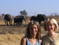 Suzie Marsh with Karen Paolilo in Zimbabwe