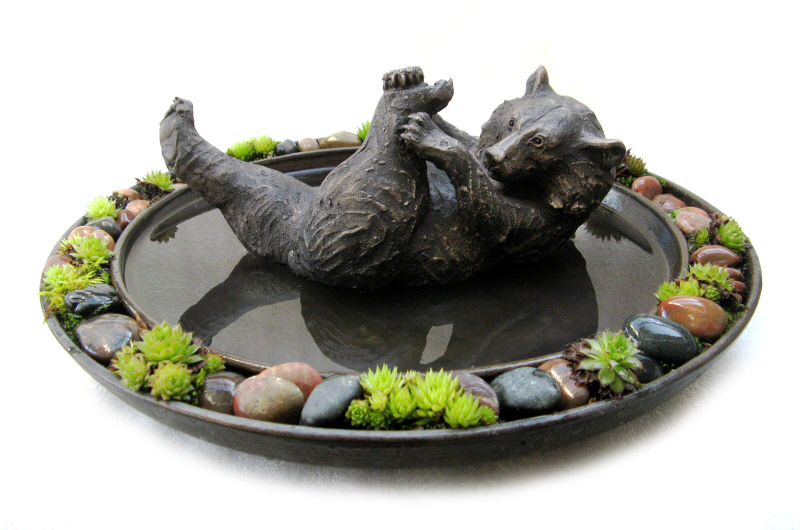 Paddy in Pond - bronze resin