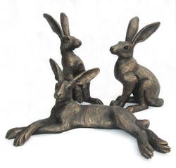 small Reclining, Upright Alert & Alert Hares