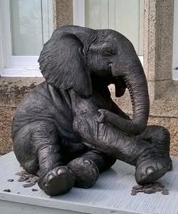 Thandeka - Sitting Elephant Calf