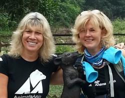 Suzie Marsh with Jill Robinson