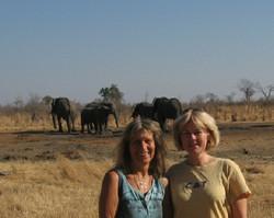 Karen and me at Ganda Lodge