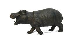 Steve Hippo -  left side - bronze resin - Suzie Marsh