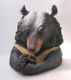 Boabe Moon Bear Head with Cong