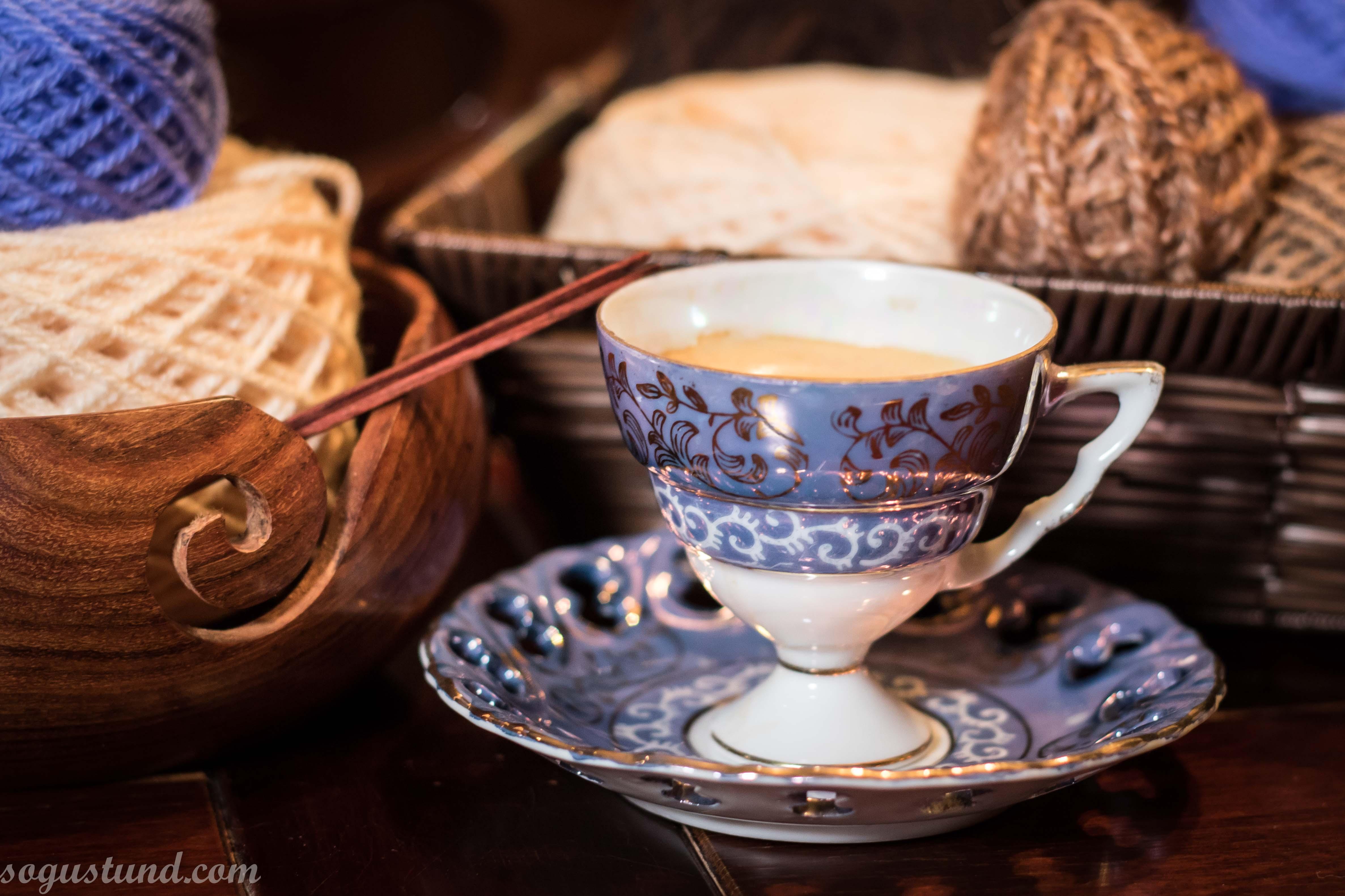 Kaffi og prjón