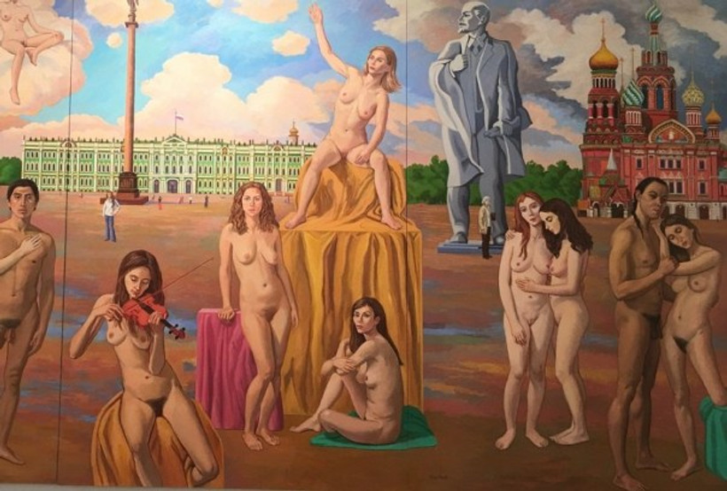 "Detail from ""Dreamers in a Palace Square"", Vincent Arcilesi, On View in Retrospective"