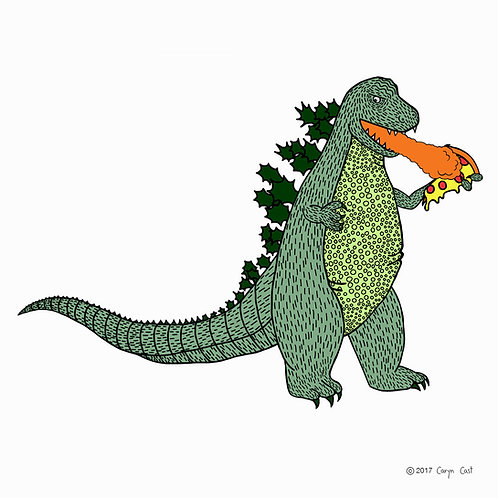 DINO PIZZA by Caryn Cast