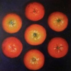 """Kathleen Erin Lee, Tangerines, Oil on canvas, 12 x 12"""""""