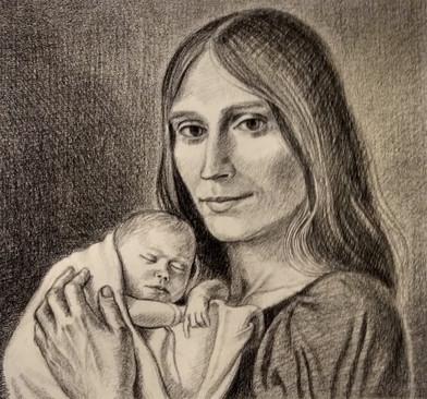 Nan Chapin Arcilesi wth Francesca, 1976