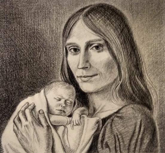 Nan Chapin Arcilesi wth Francesca, 1975