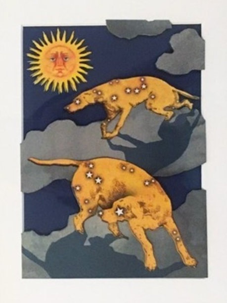 """Andrew Wheatley, Hounds, 2020, Collage, 8.5 x 6.5"""""""