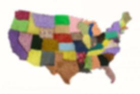 USA Sponge Map