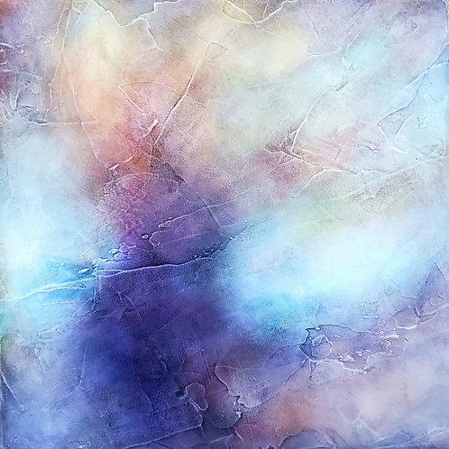 "Kimberly Abbott, Finding the Light, Acrylic on panel, 8 x 8"", 2020"