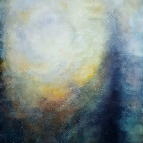 Kimberly Abbott, The Sun is Coming Through, 2020, Acrylics on canvas, 28 x 38""