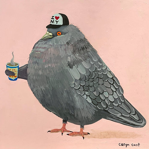 THE FLUFFY NYC PIGEON BY CARYN CAST