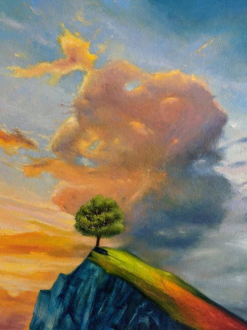 "Kim Zack, Sky 12, 2020, 18"" x 14"", Oil on canvas"