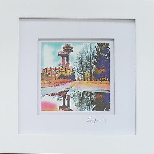 """Ken Jones, World's Fair Observation Towers, 2020, Digital Photo, 8 x 8"""" fr"""